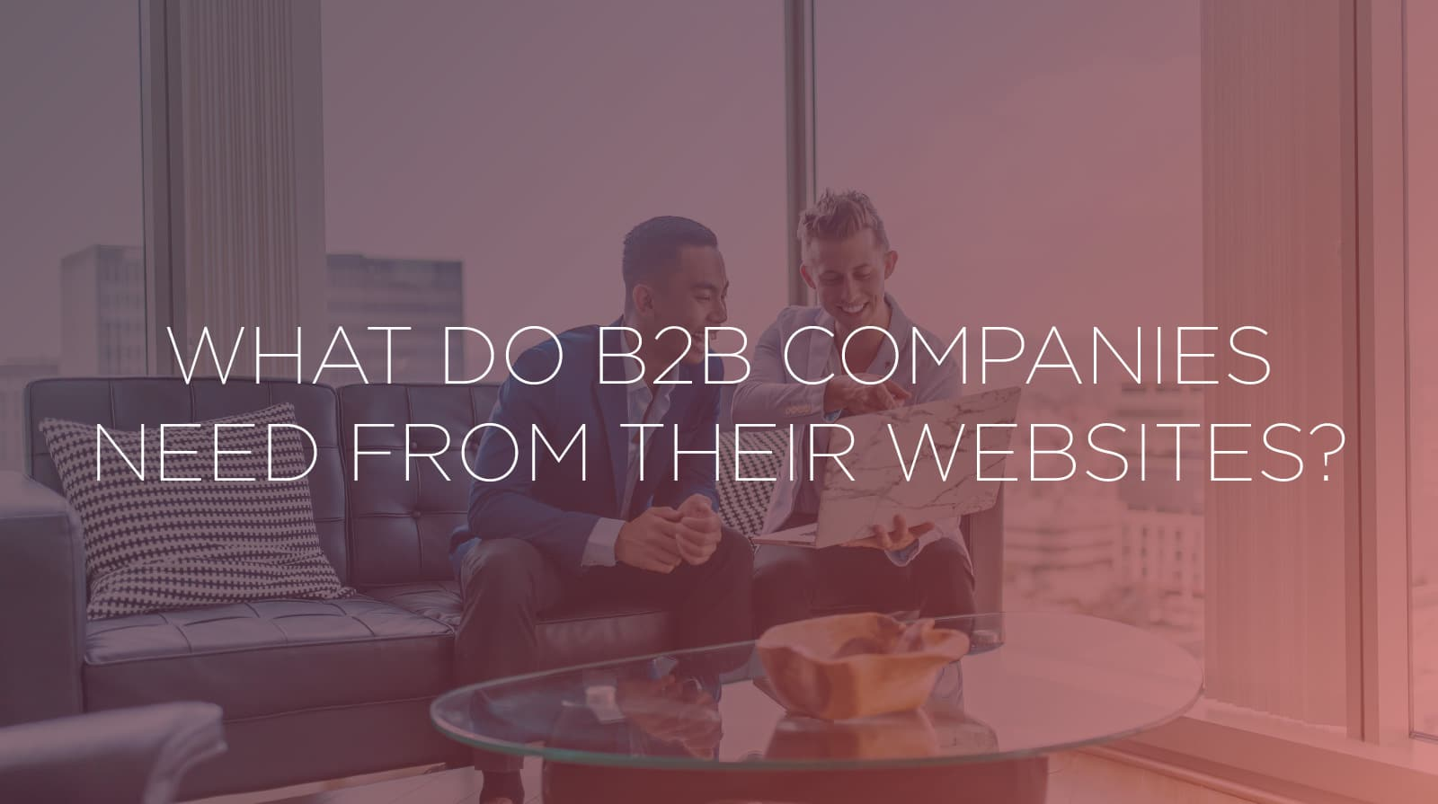 What Do B2B Companies Need from Their Websites