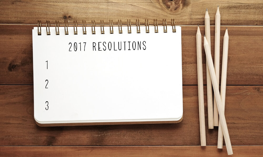 calendar and pencils on a table for 2017 new year's business resolutions