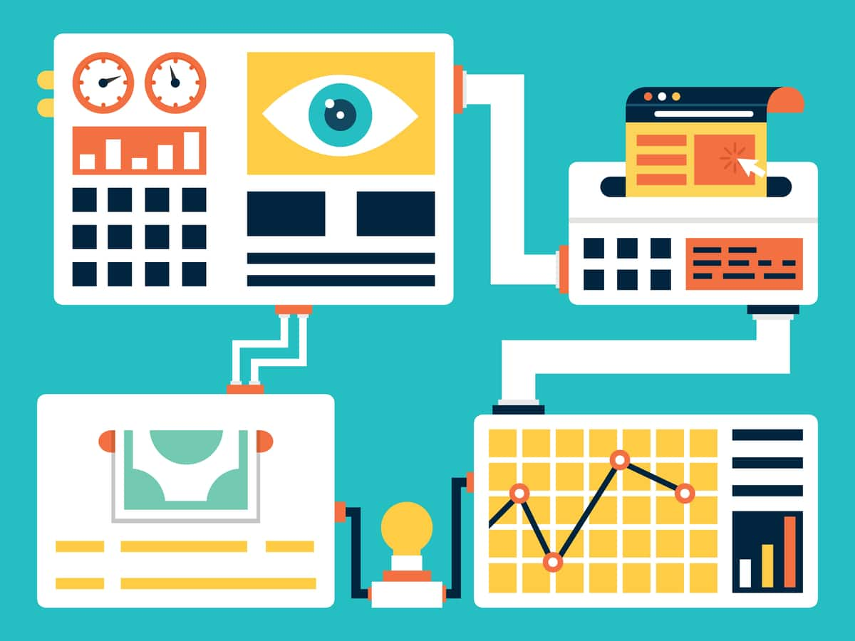 illustration of tracking and monitoring of user behavior to increase conversions on your website