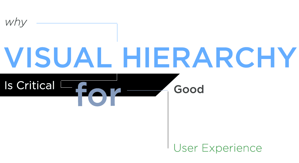 why visual hierarchy is critical for good user experience
