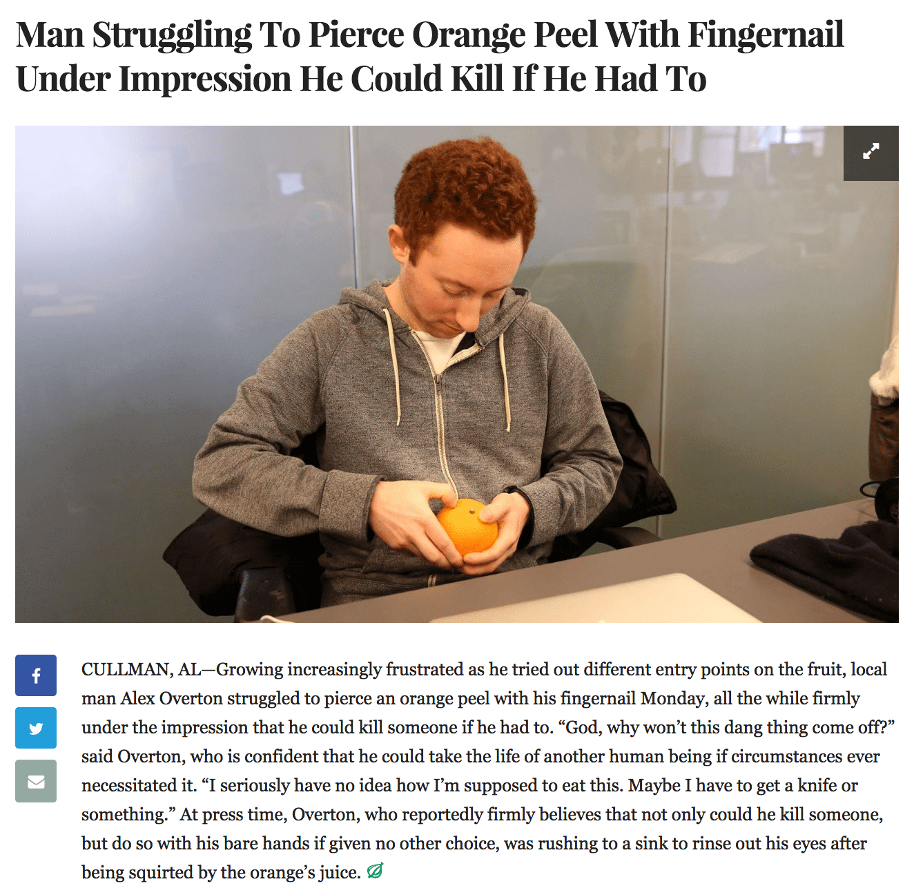 The Onion short-form content example