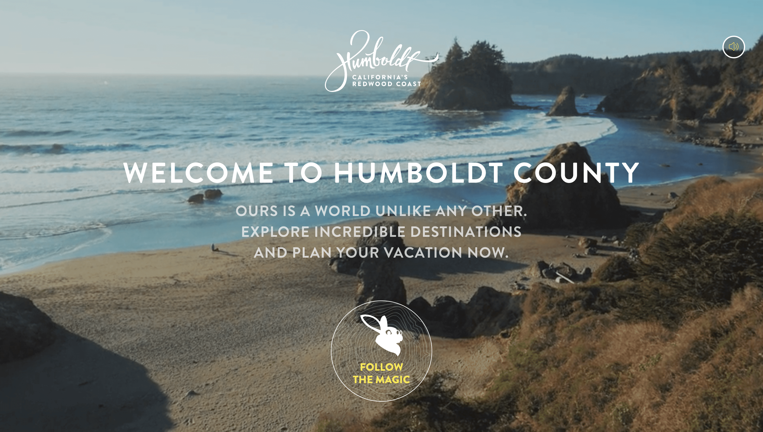 humbolt video background with static cta