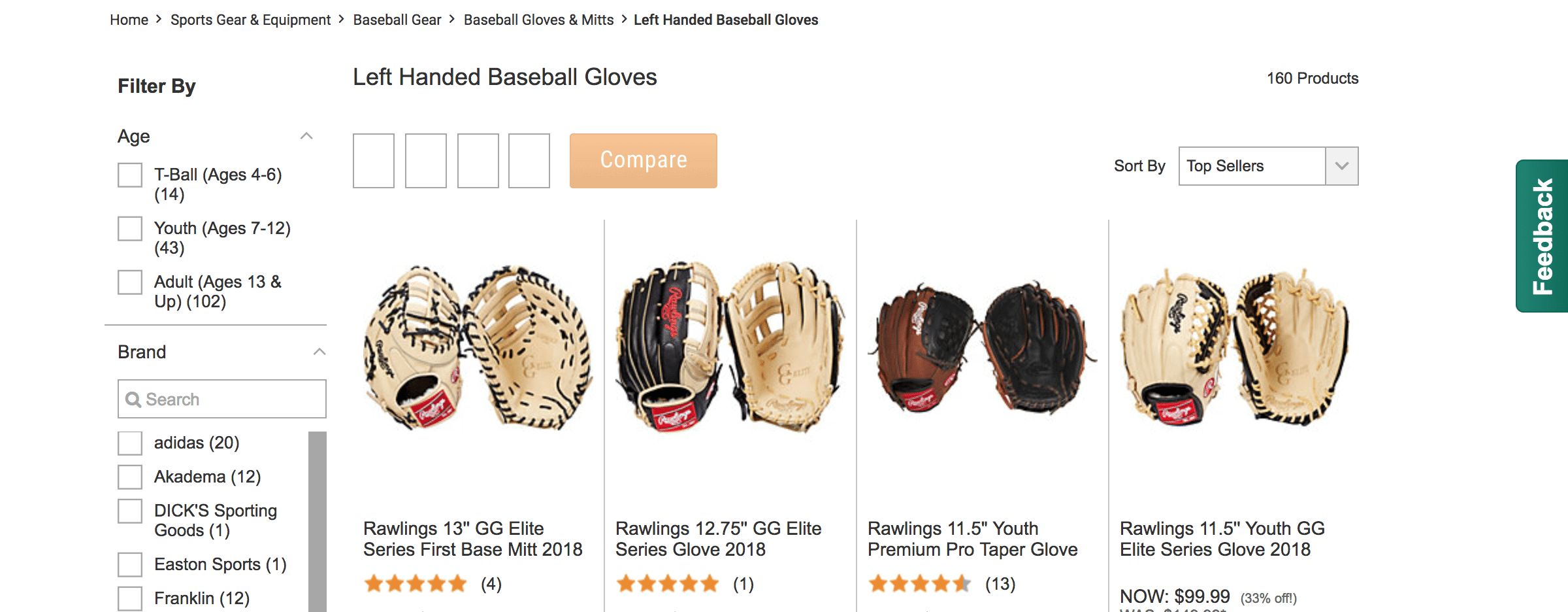 left handed baseball gloves