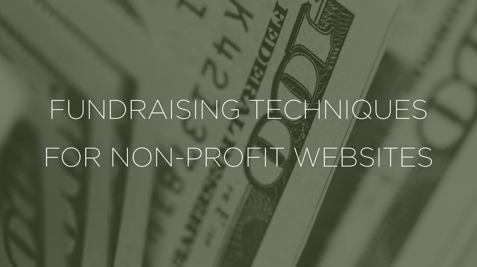Fundraising Techniques for Non-Profit Websites